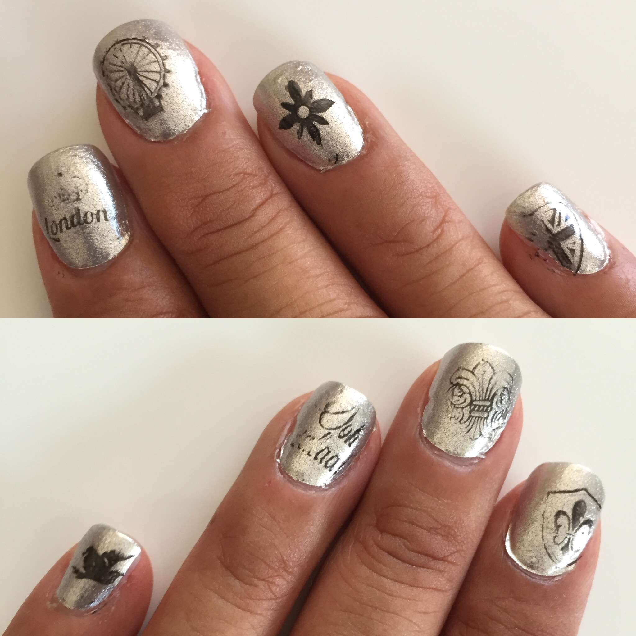 Nail art stamp collecting any second now i really just jumped right in without thinking about placement or knowing any kind of technique which is why they look like a bad photocopy prinsesfo Images