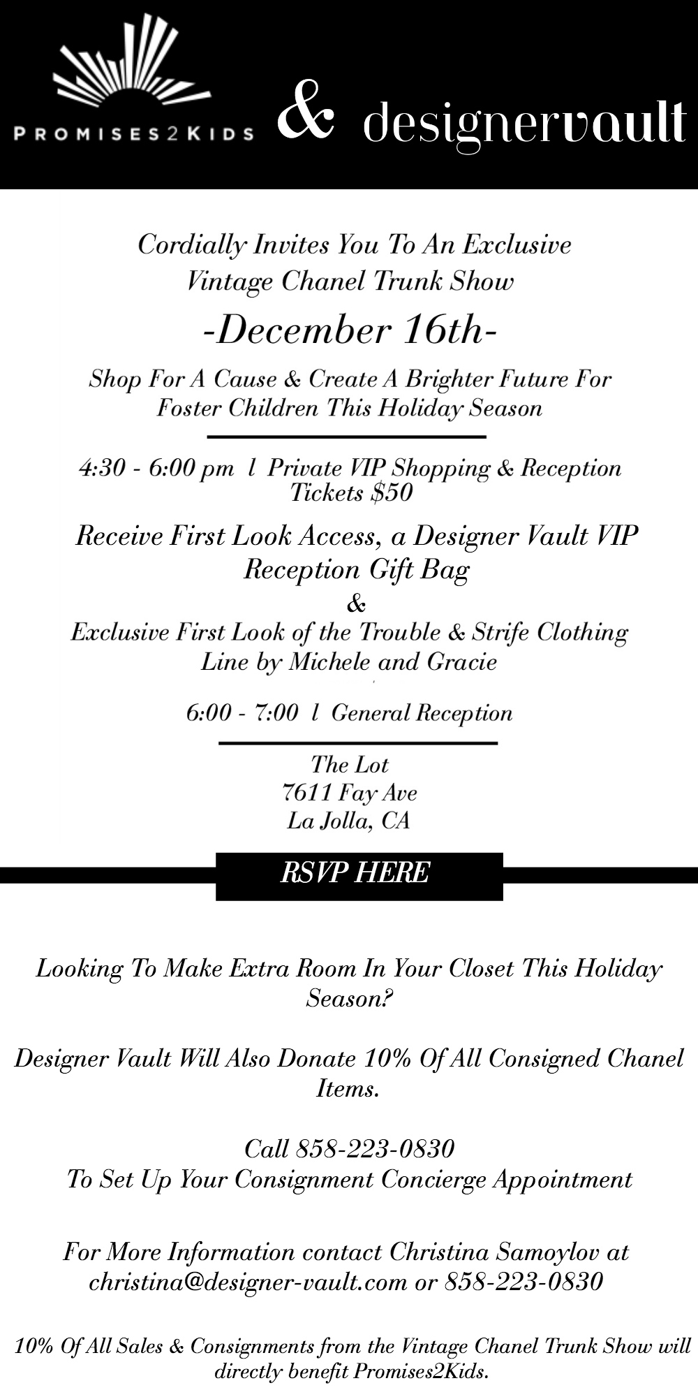 Designer Vaults Vintage Chanel Trunk Show December 16 2015 Any