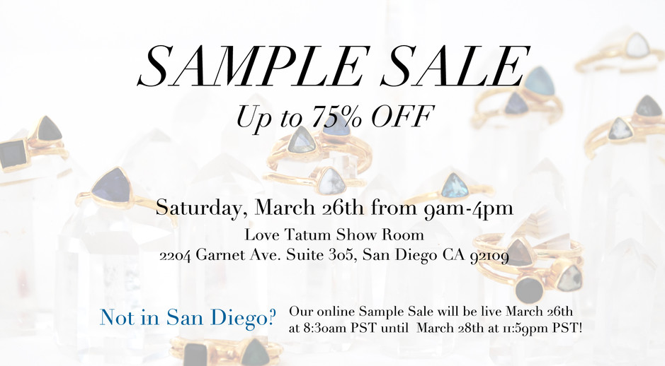 Love Tatum Sample Sale 3.26.16