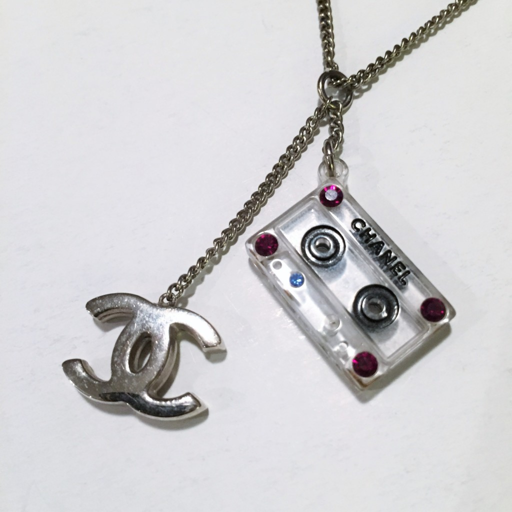 Chanel Cassette Tape Necklace Designer Vault