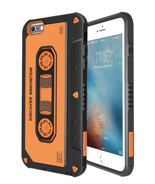 Shockproof Retro Cassette Hard Case Cover