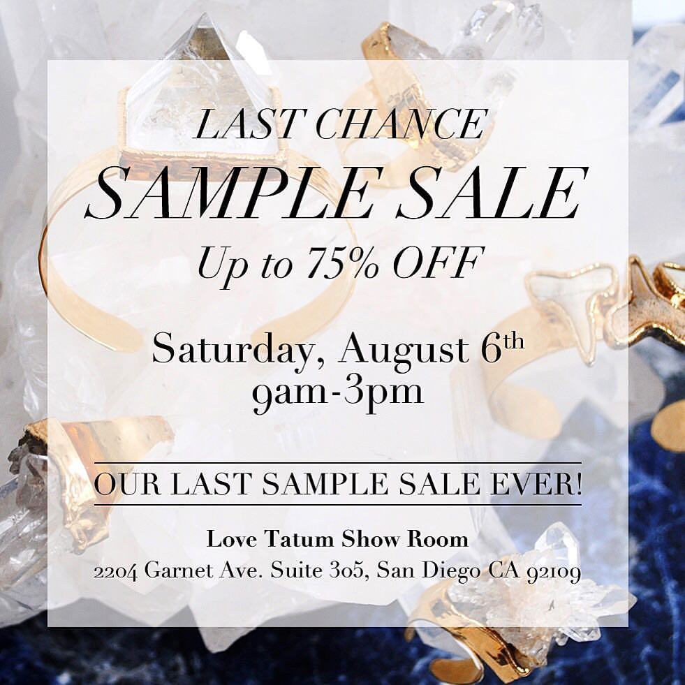 Love Tatum Aug Sample Sale 2016 2