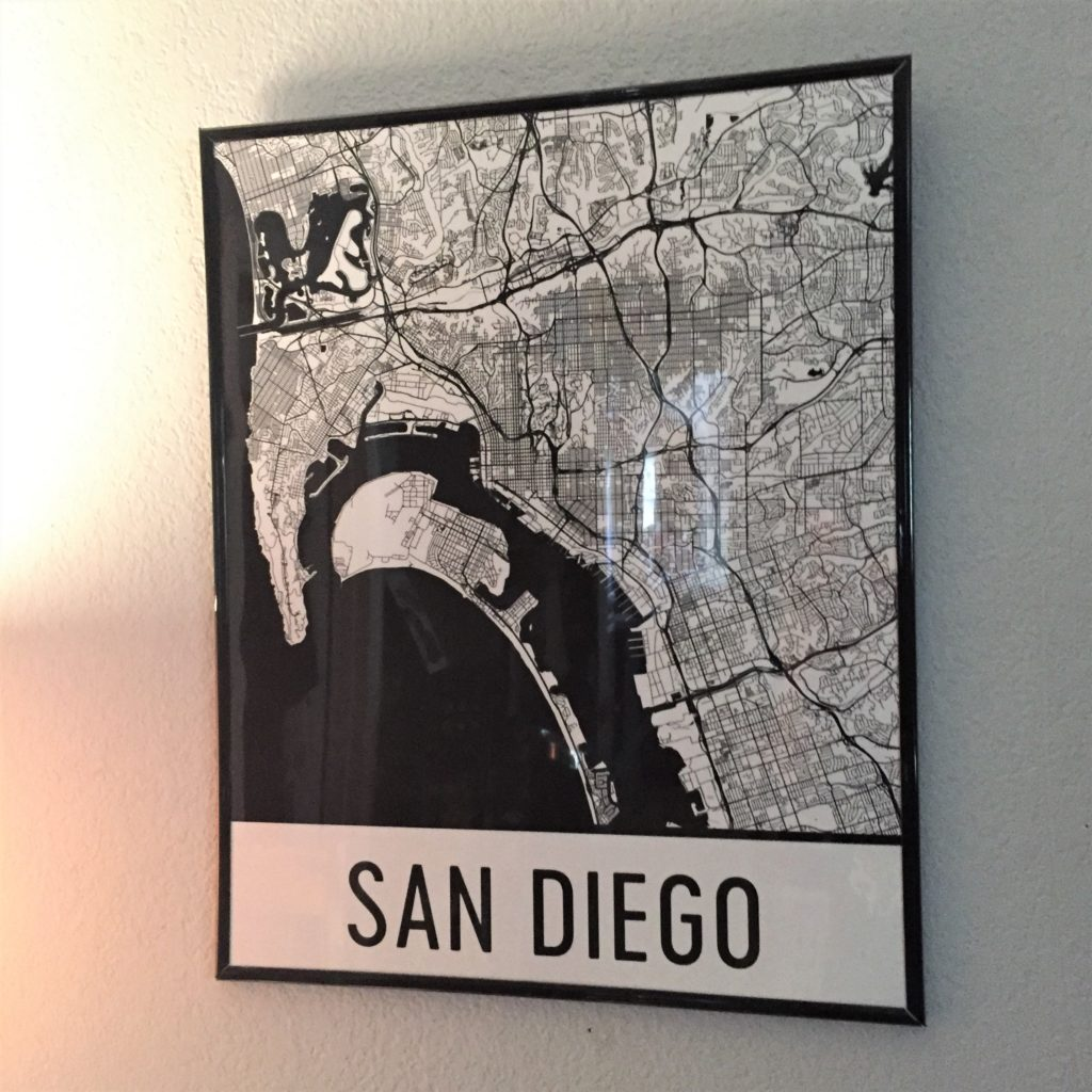 Modern Map Art San Diego 1