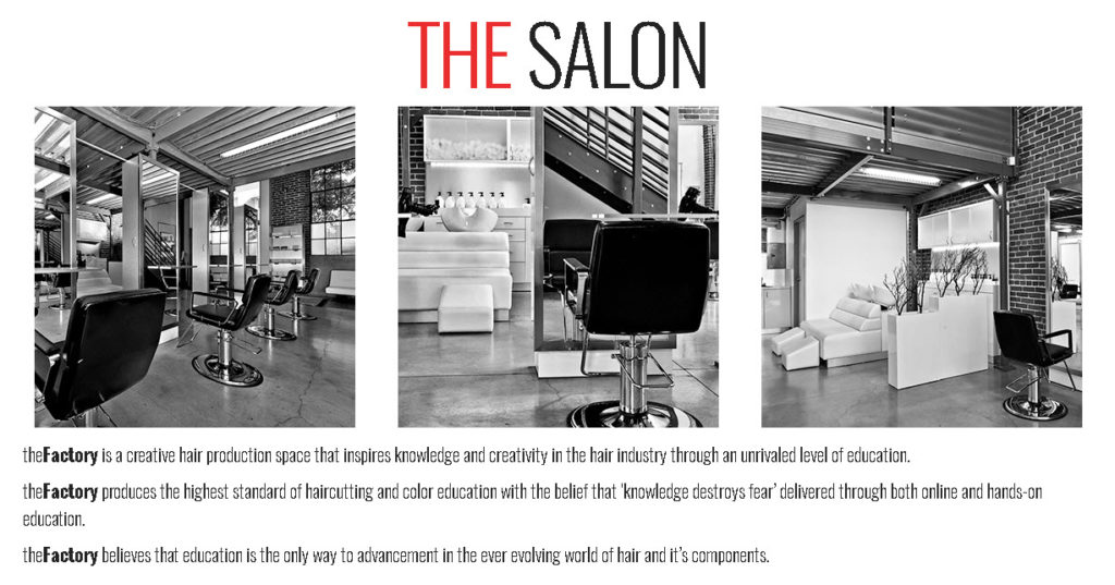 The Factory Salon Front Page